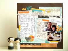 notes on paper: Scrapbooking 'My Month in Numbers': May 2013
