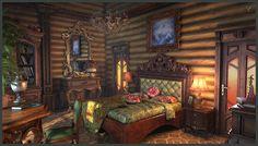 Bedroom, Alexey Gaifutdinov on ArtStation at https://www.artstation.com/artwork/vYGXv