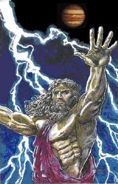 Zeus, god of lightening bolt and god of all gods