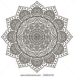 Hand Drawn Mandala Fotos en stock, Hand Drawn Mandala Fotografía en stock, Hand…
