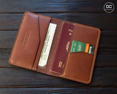 Купить Кожаная обложка для паспорта с карманами - обложка для паспорта жене, обложка для паспорта мужу