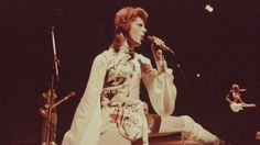 """See a rare clip of David Bowie performing """"The Jean Genie"""" on TV in 1973."""