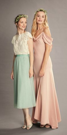 Soft sorbet shades for your bridesmaids