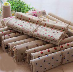20pcs 25x25cm zakka linen cotton fabric strawberry printed linens fabrics woven patchwork sewing cloth tissue
