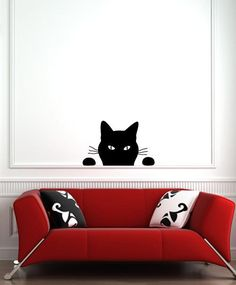 Cheap sticker making, Buy Quality sticker wall decor directly from China decorative vinyl wall stickers Suppliers: 2015 New Banksy Style - WALL - Black Cat - Soon Wall Vinyl Decal Wall Stickers Home Decors Size 56 x Wall Stickers Home Decor, Wall Stickers Murals, Vinyl Wall Decals, Cat Decals, Interior Design Vignette, Cat Wall, Animals Images, Halloween Cat, Wall Art