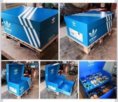 ...custom adidas shoe box... #ThreeStripesMovement