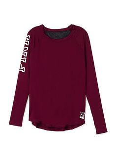 Mesh Back Long Sleeve - PINK - Victoria's Secret Size: S In Russian Ruby. Just got in this and a space dye grey.