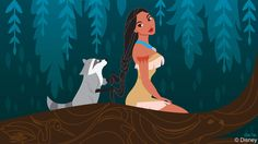 Disney Doodle: Pocahontas & Meeko Explore Disney's Animal Kingdom by Ashley Taylor | Disney Parks Blog
