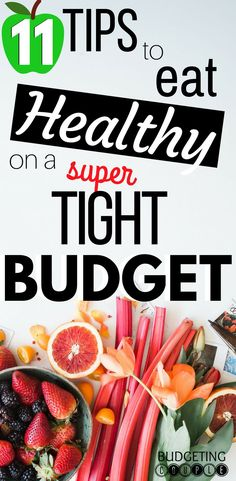 Discover the money saving tips you need to save money on groceries and eat healthy on a budget! These frugal living tips are perfect if you're trying to crush a healthy lifestyle while saving money! Learn how to save money on healthy food even on a tight Money Saving Meals, Save Money On Groceries, Groceries Budget, Money Hacks, Money Tips, Save Money On Food, Frugal Meals, Budget Meals, Budget Recipes