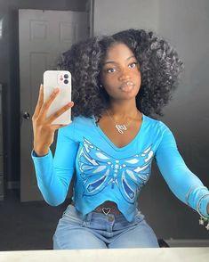 Pretty Black Girls, Beautiful Black Women, Beautiful Ladies, Beautiful People, Black Girls Hairstyles, Cute Hairstyles, Protective Hairstyles, Curly Hair Styles, Natural Hair Styles