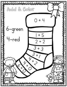 December Christmas Math Notebook (Math for the Entire Month! Kindergarten Math Activities, Preschool Activities, Math Math, Teaching Kids, Kids Learning, Christmas Math, Christmas Worksheets, Grande Section, Math Addition