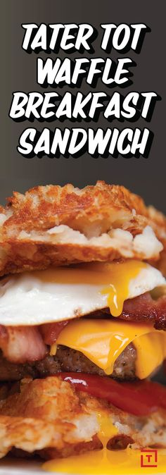 Look, tater tots are a big deal. They apparently improve your flirting skills and even McDonald's is giving the ol' tot a test run. Oh, and you can fry them in a waffle iron and use them as buns in this absurdly delicious breakfast sandwich recipe from Food Steez. That too. Kiss your predictable BEC sandwiches goodbye, and watch the video above to see how it's done.