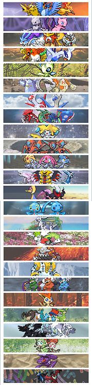 Legendary pokemon out of pokemon mystery dungeon and other pokemon games!