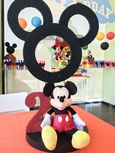 Mickey & Friends party centerpiece. Centro de mesa para fiesta de Mickey y sus amigos