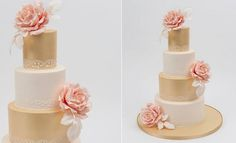 gold wedding cake ideas - Google Search