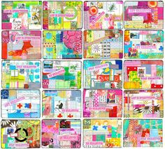 beautiful, colorful, collaged postcards by ihanna