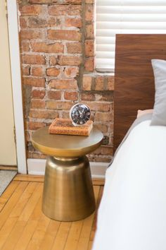Brass Martini Table from west elm