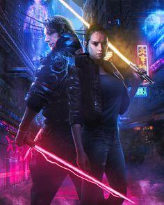 Artstation Cyberpunk X Star Wars Pablo Ruiz Rey Star Wars Star Wars Poster Star Wars Images