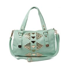 Shop for Shi by Journeys Tri Studded Bag in Seafoam Mint at Journeys Shoes