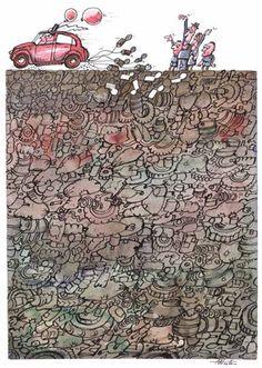 Prize winners Euro-Kartoenale 2015 'Soil pollution and sanitation' Euro, City Photo, Vintage World Maps, Cartoon, Cartoons, Comics And Cartoons