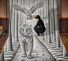 Neues von Ben Heine: 3D Drawings