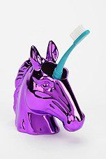 Urban Outfitters - Unicorn Toothbrush Holder super cool!! i totally want that!!