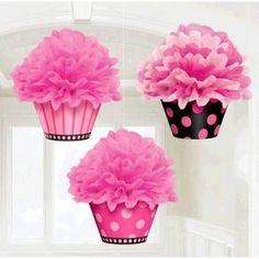 Cupcake Fluffy Decorations