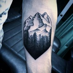 Mountain forest tattoo