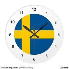 Swedish flag clocks