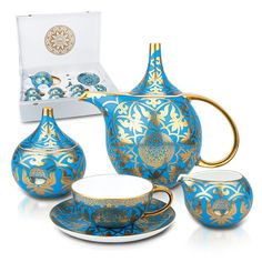 "Tea sets ""Shughyla"". The tea set is produced by a world famous brand Fine Bone China."