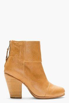 RAG & BONE Camel Leather Classic Newbury Ankle Boots