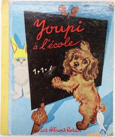 Enid Blyton's Scamp at School : Enid Blyton Pub Vintage, Vintage Toys, Enid Blyton, Animal Books, Old Books, Album, Little People, Kitsch, Childhood Memories