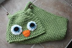 BabyOwl Hat and Cocoon Set Free Pattern - A[mi]dorable Crochet