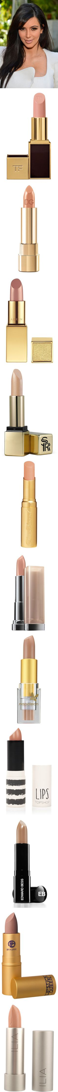 Get the Look: Kim Kardashian's Nude Lip by polyvore-editorial on Polyvore featuring kimkardashian, nudelipstick, women's fashion, accessories, hair accessories, kim kardashian, long hair accessories, short hair accessories, beauty products and makeup