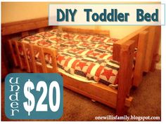 DIY Toddler Bed #diytoddlerbed#toddlerbed#cribmattress