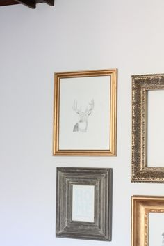 DIY Fall Decor | deer pencil sketch | updating artwork each season