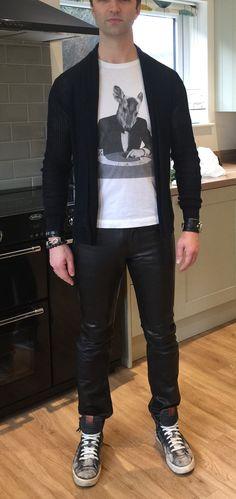 Diesel leather pants
