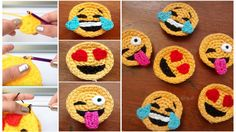 Crochet emotion faces - a great tool for working with #asd and #aspergers Video tutorial included in the article.