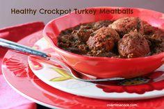 healthy turkey slow cooker meatballs on Overtime Cook