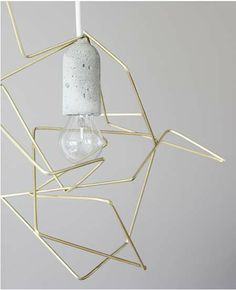 Metallic Tangle Lamps - This DIY Geometric Lampshade Has a Polished and Chic Manufactured Look (GALLERY)