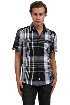 The The Double Shirt in Black by 7 Diamonds from MFredric.com