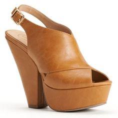 Candie's® Slingback Platform High Heels - Women