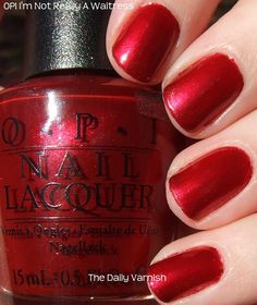 "Like so many others, I have searched for the perfect shade of red.  O.P.I.'s ""I'm Not Really a Waitress"" is a great option if you have pale/pink skin like me.  Another plus is the long-wearing quality I've found with all O.P.I. nail lacquers.  My toes are ready for summer!"