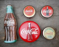Collectible Coca-Cola Tins | Vintage Coca Cola Tin Instant Collection of 5 Tins Early 1990s