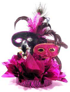 sweet 16 masquerade party supplies | Sweet 16 Masquearade Ball Centerpiece
