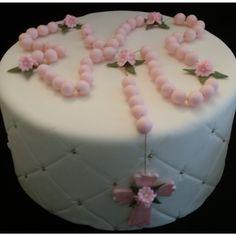 Pink, Blue or White Rosary For Cake, Recurditos de Bautizo, Baby Baptism Cake Topper, Decorasion Para Primera Comunion, Decoracion De Bautizo, Baptism Cake Decoration - Cake Toppers Boutique  - 3
