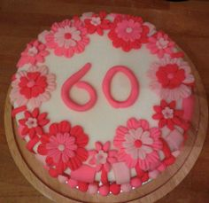 A homemade cake for my Auntie's 60th Birthday