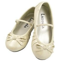 Details about New Toddler Girls Ivory Dress Shoes Size 9 Flat ...
