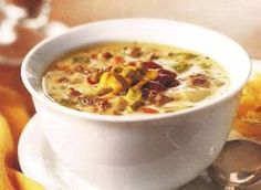 Crockpot Cheeseburger Soup - uses REAL cheese and not velveeta!