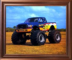 Bigfoot Monster Truck Racing Mahogany Framed Picture Wall…